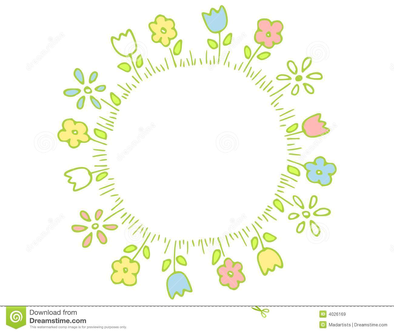 Ring Of Spring Flowers In Pastel Colors Royalty Free Stock ...