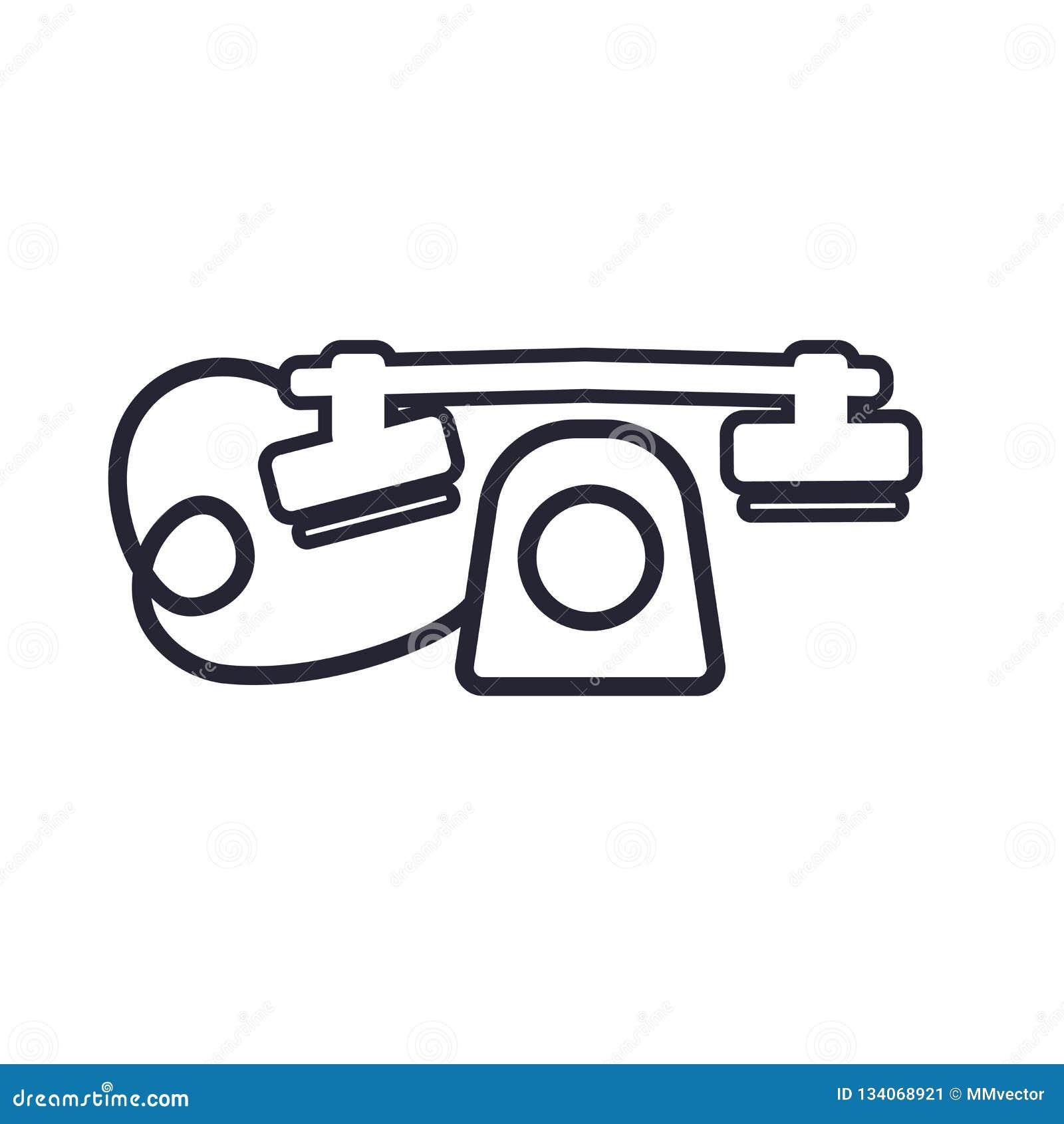 Ringa det symbolsvektortecknet och symbolet som isoleras på vit bakgrund, telefonlogobegrepp