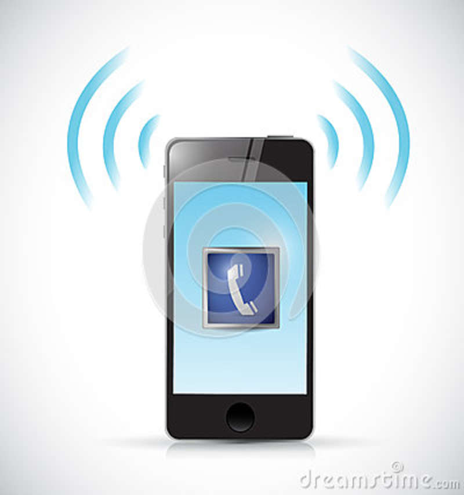 Ringa telefonillustrationdesign
