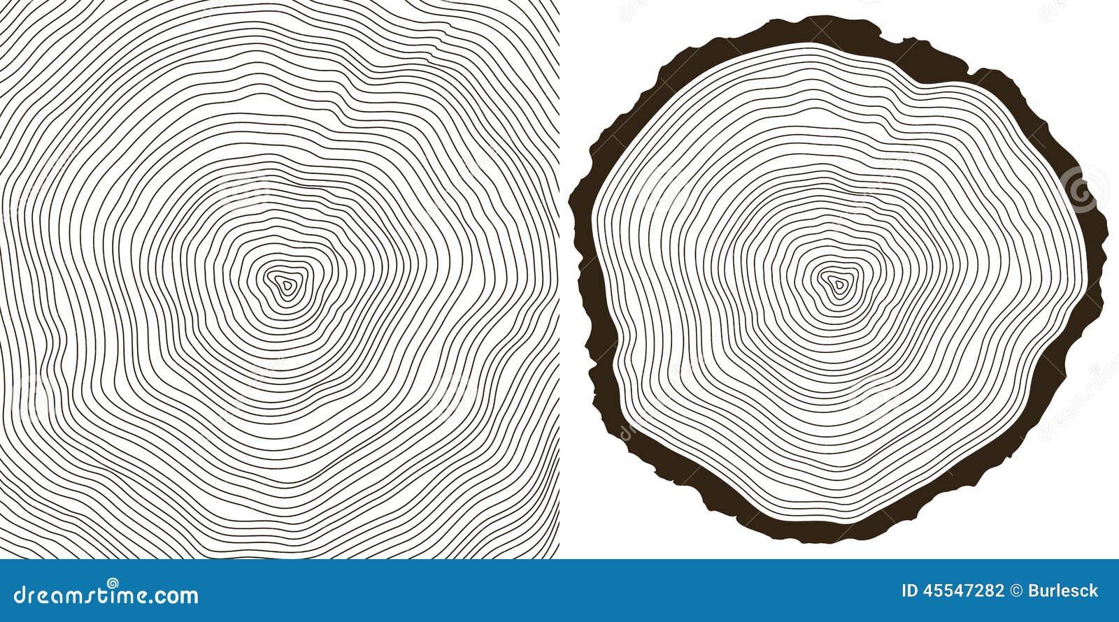 ringe auf einem langen vektor abbildung bild 45547282