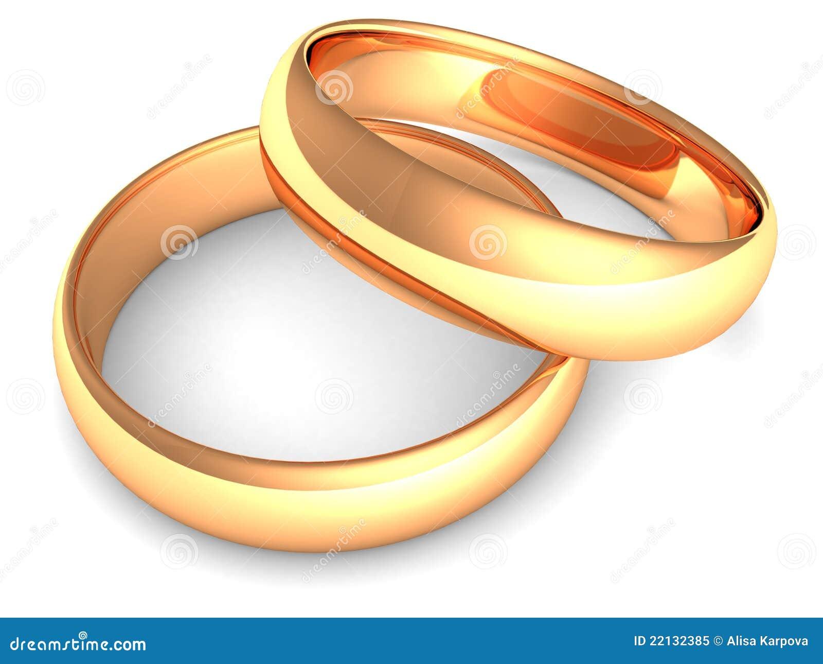 ringe der goldenen hochzeit auf wei em hintergrund lizenzfreies stockfoto bild 22132385. Black Bedroom Furniture Sets. Home Design Ideas