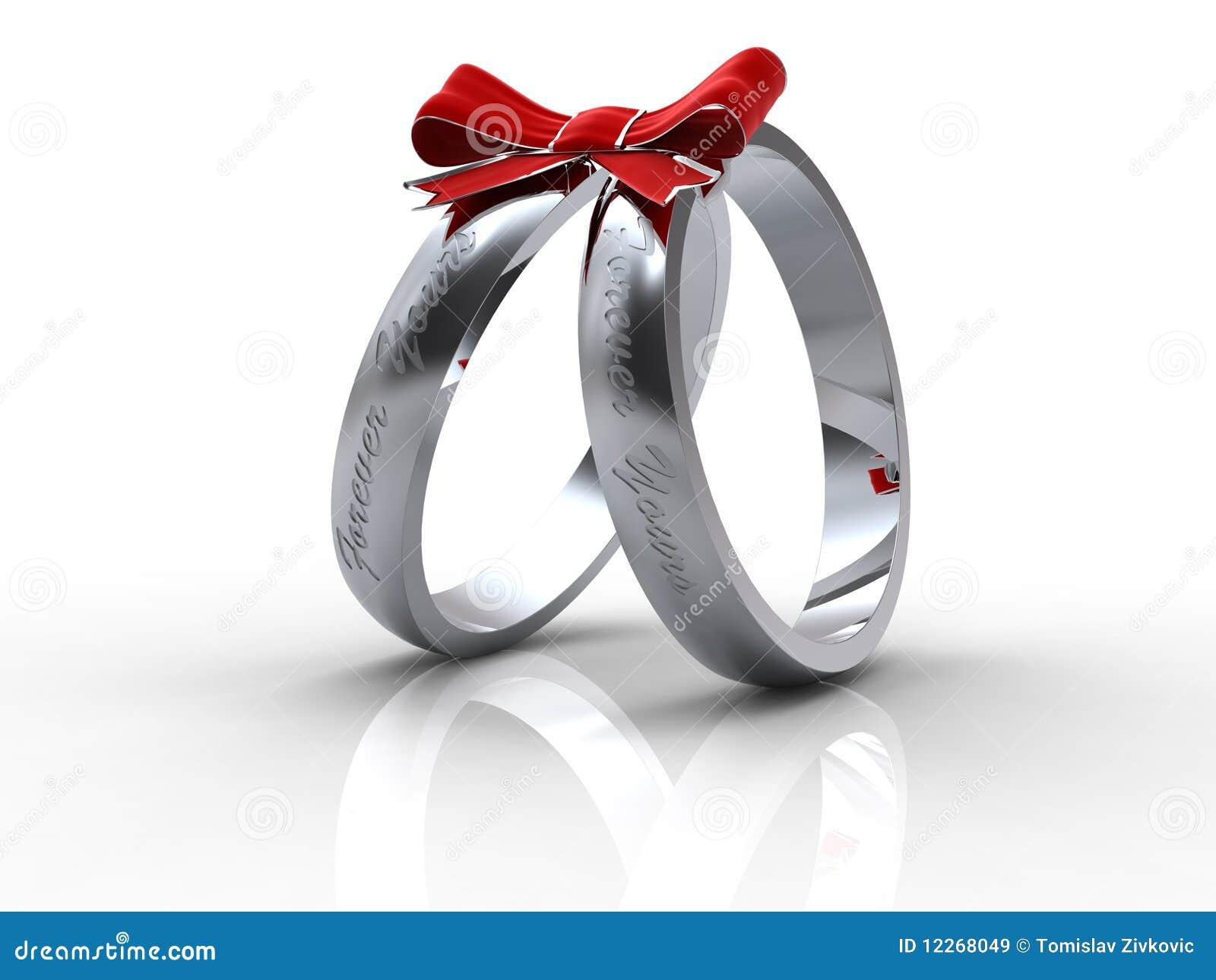 Ringe Der Silbernen Hochzeit Stock Abbildung Illustration Von