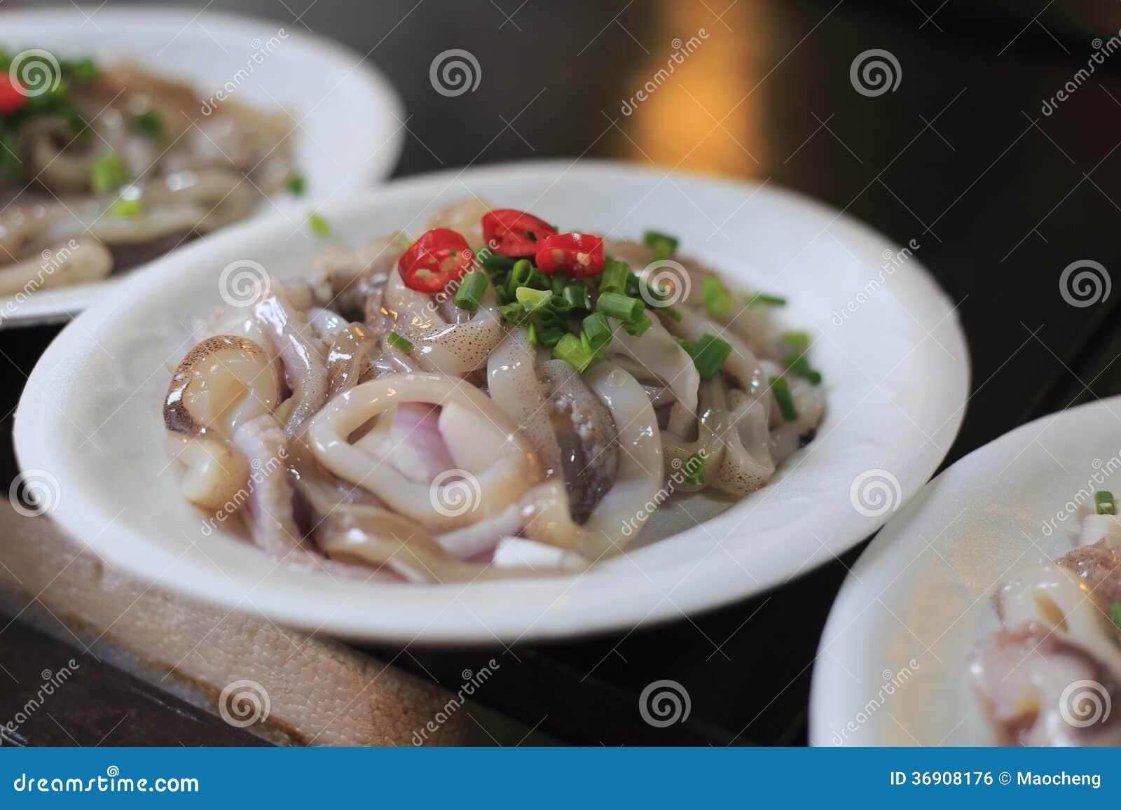 Ringen van besnoeiings de ruwe calamari
