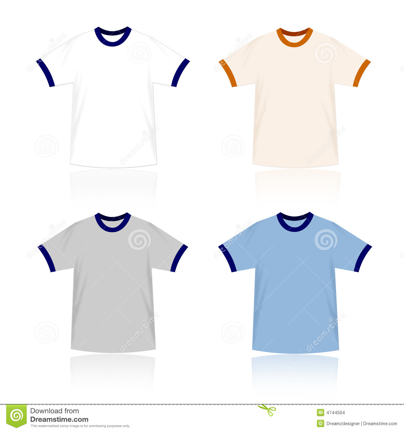 Ringer t shirts blank templates stock images image 4744504 for Website where you can design your own shirt