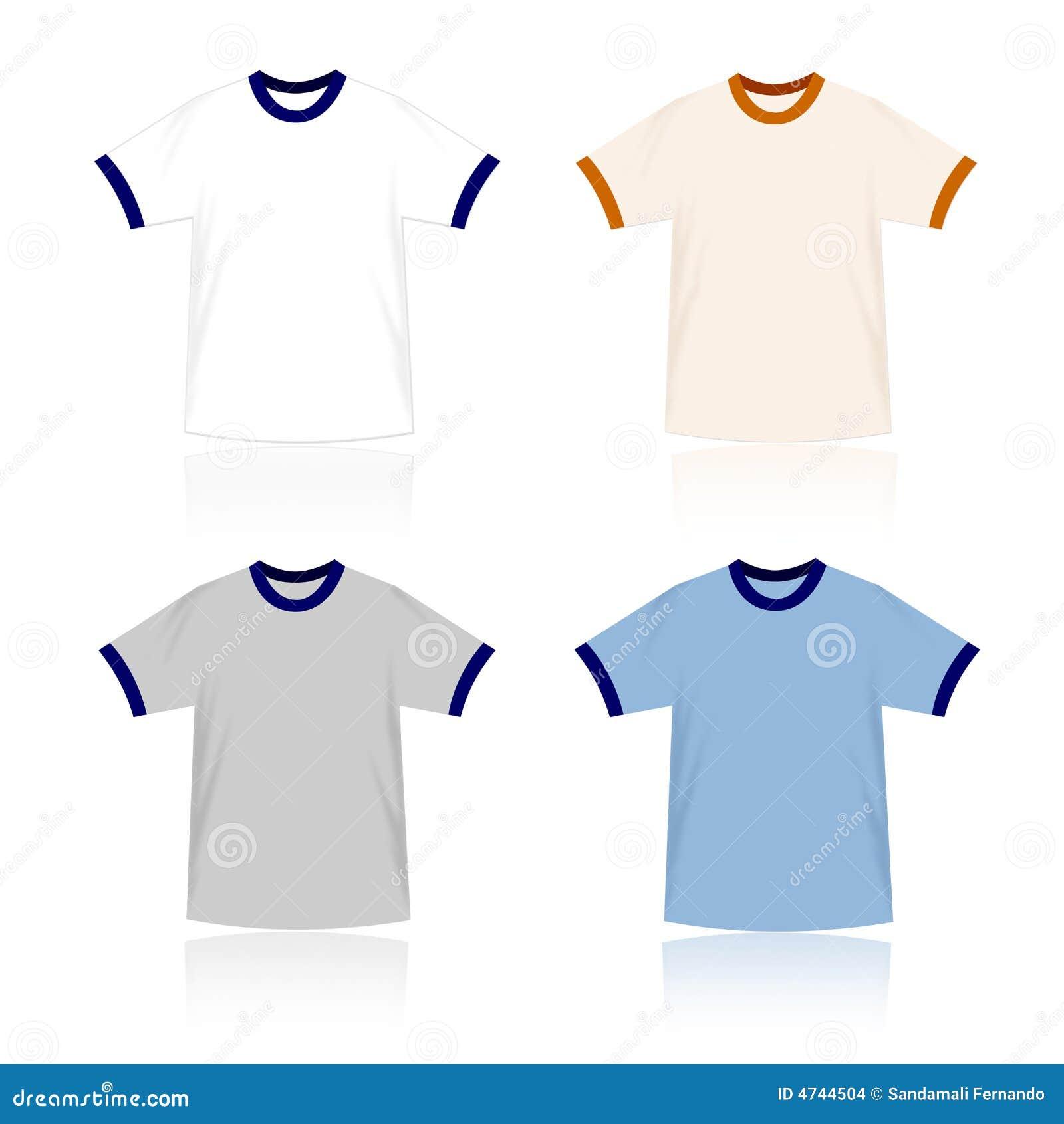 ringer t shirts blank templates stock vector image 4744504. Black Bedroom Furniture Sets. Home Design Ideas