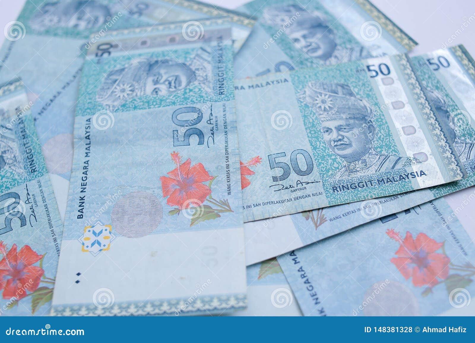 50-Ringgit-Banknote Ringgit ist die Landesw?hrung von Malaysia