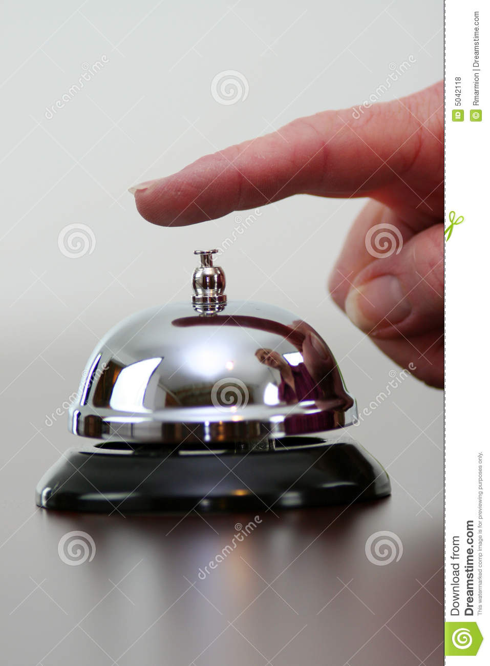 Ringing Bell Stock Photo Image Of Business Customer