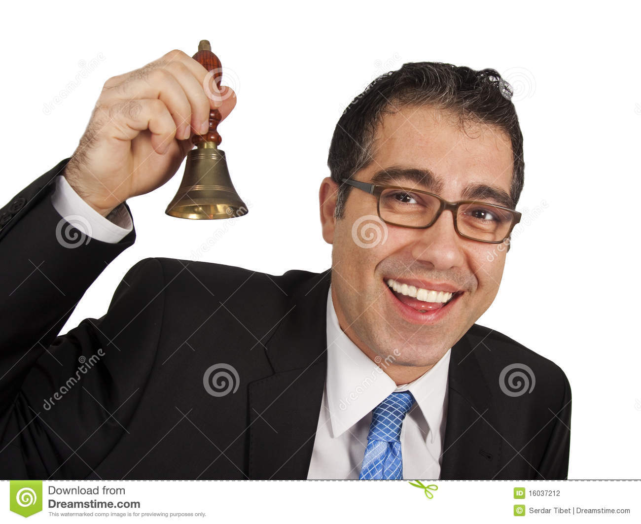 Ringing The Hand Bell Stock Photography Image 16037212