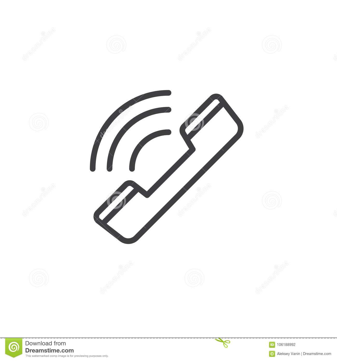 Ringing Phone Line Icon Stock Vector Illustration Of 106188992 Diagram Download