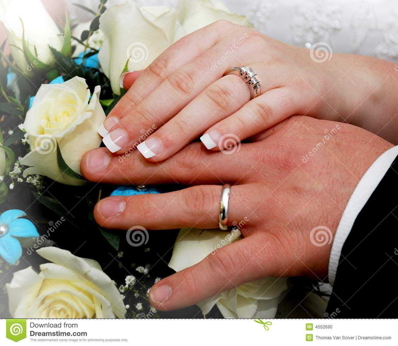Rings stock photo Image of marriage church flowers 4552690