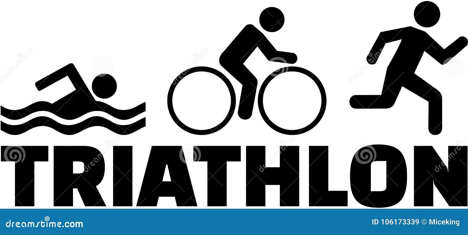 Rinnande pictogram för Triathlonsimningcykel