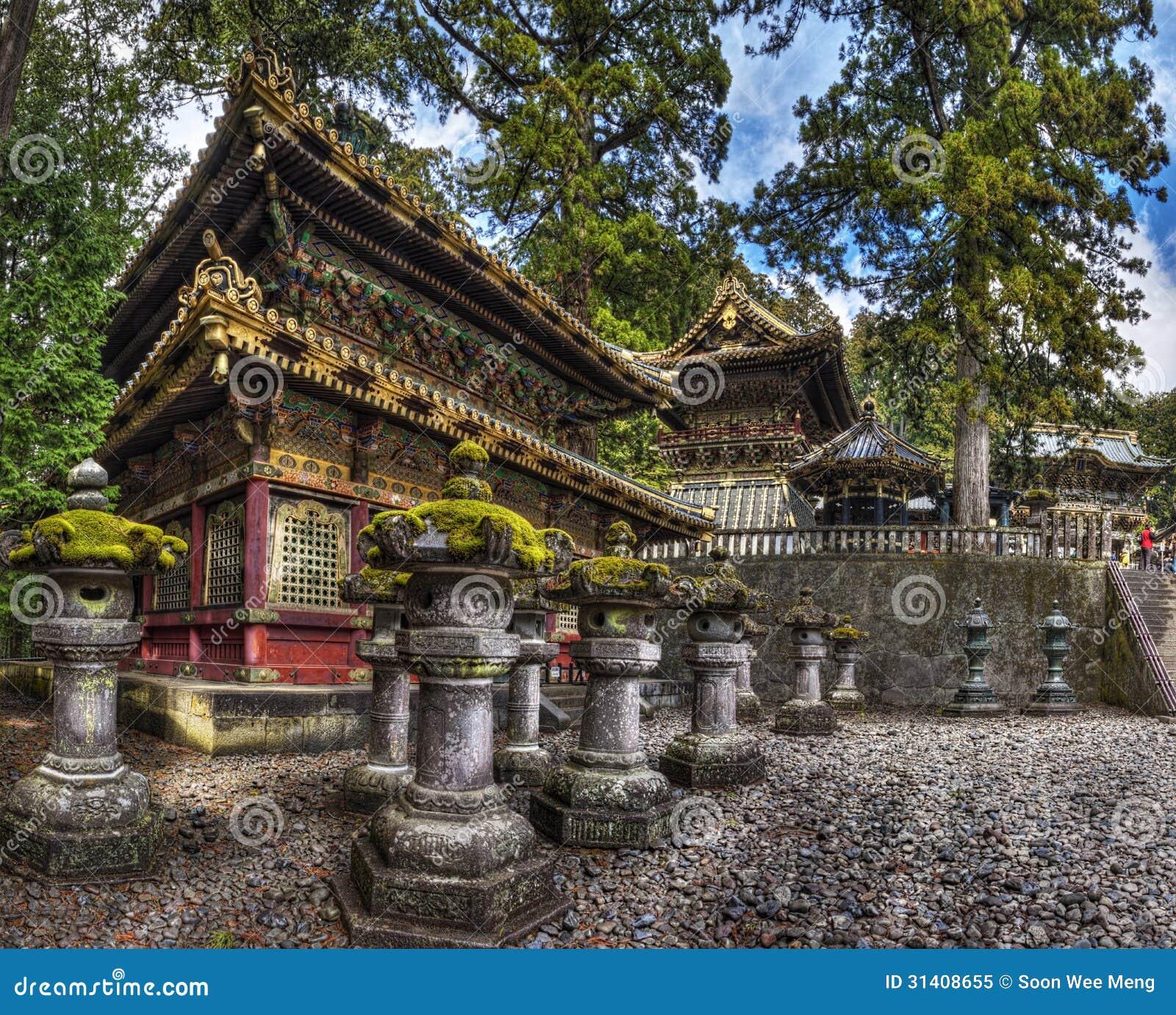 The Rinzo And Drum Tower Of Toshogu Shrine, Nikko Japan Royalty Free Stock Ph...