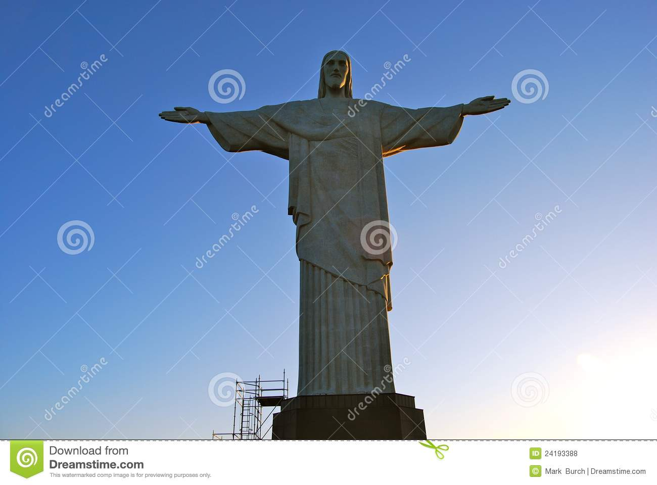 Rio Brazil looking at Christ Statue