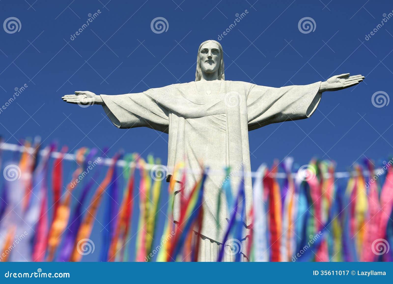 Rio Carnival Celebration na estátua de Corcovado