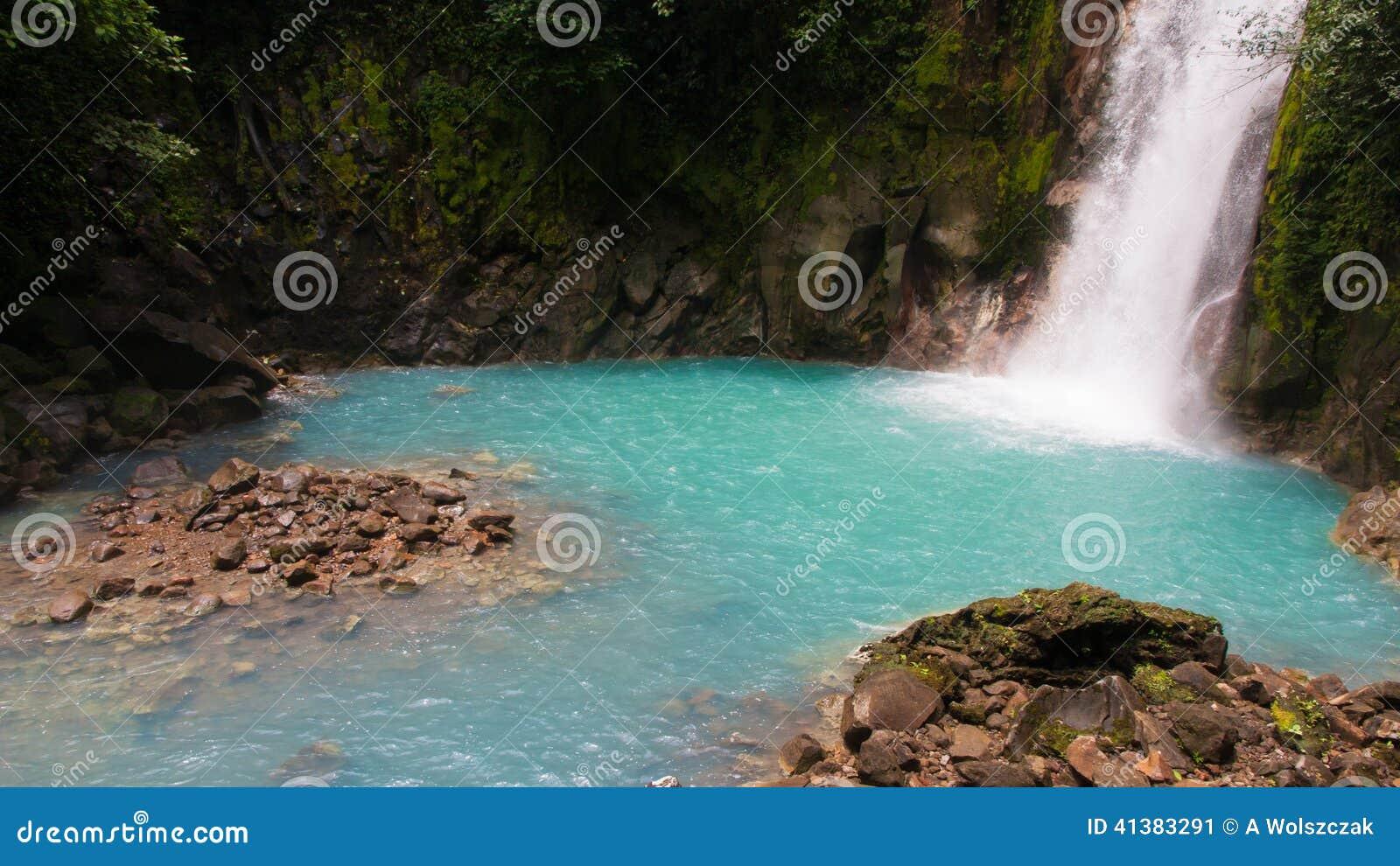 Rio Celeste River Waterfall