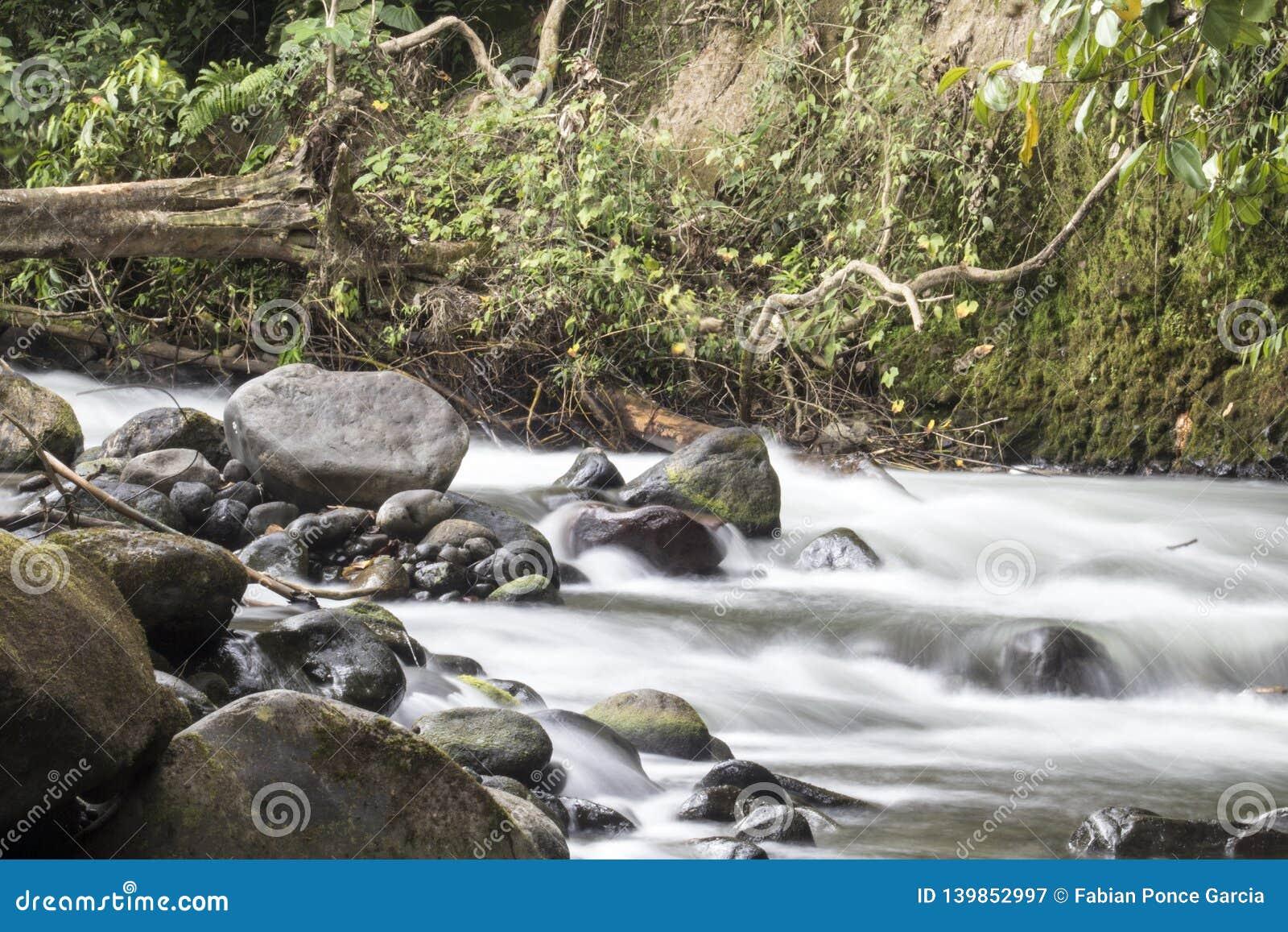 Rio com rochas