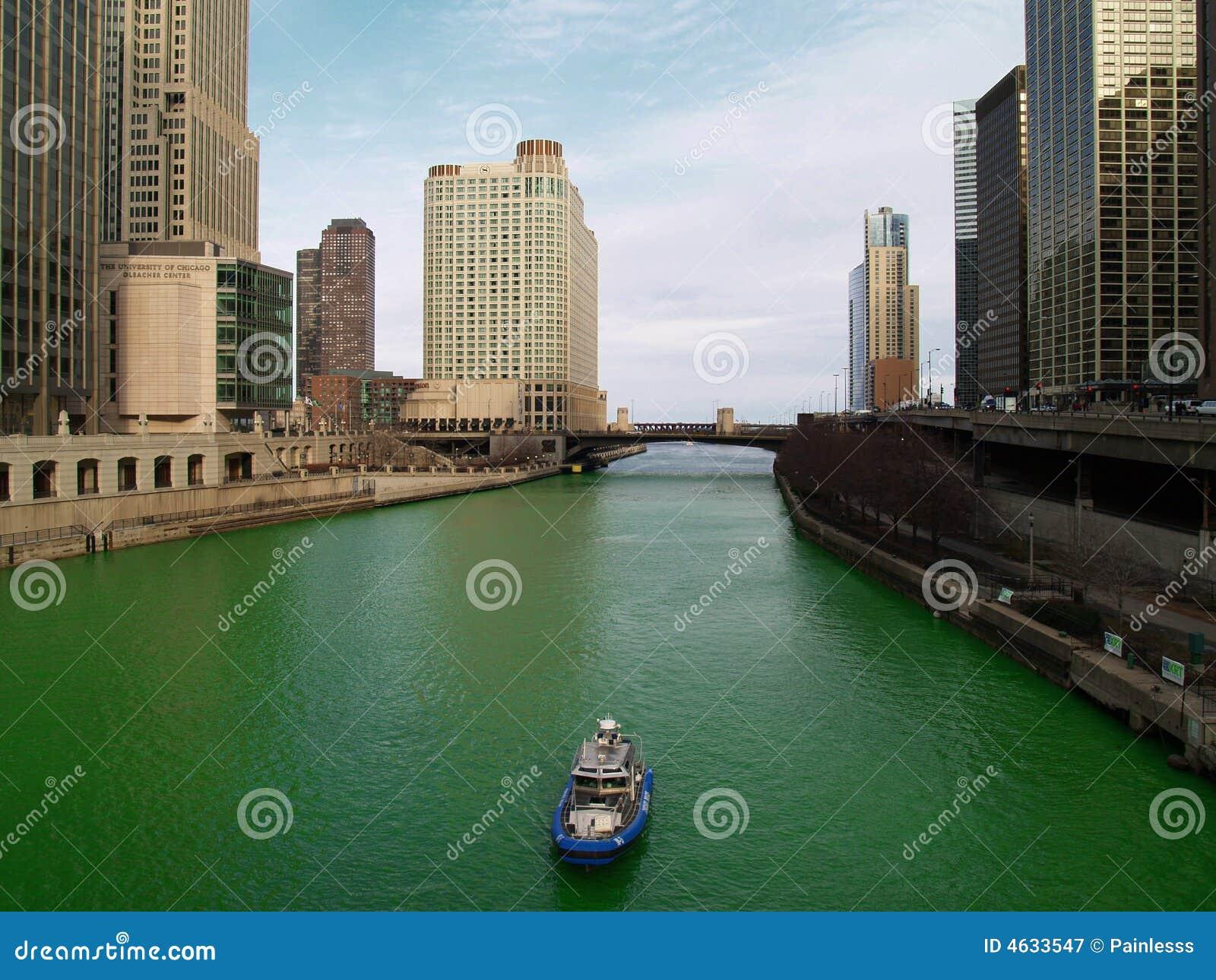 Rio de Chicago no dia de Patric de Saint