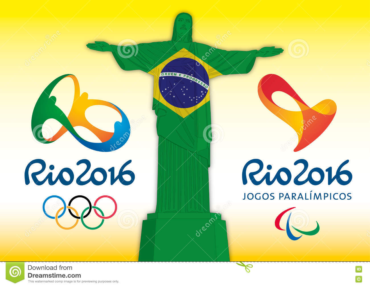 Rio de janeiro brazil year 2016 olympic games and rio de janeiro brazil year 2016 olympic games and paralympics games 2016 christ redeemer symbol and logos biocorpaavc Images