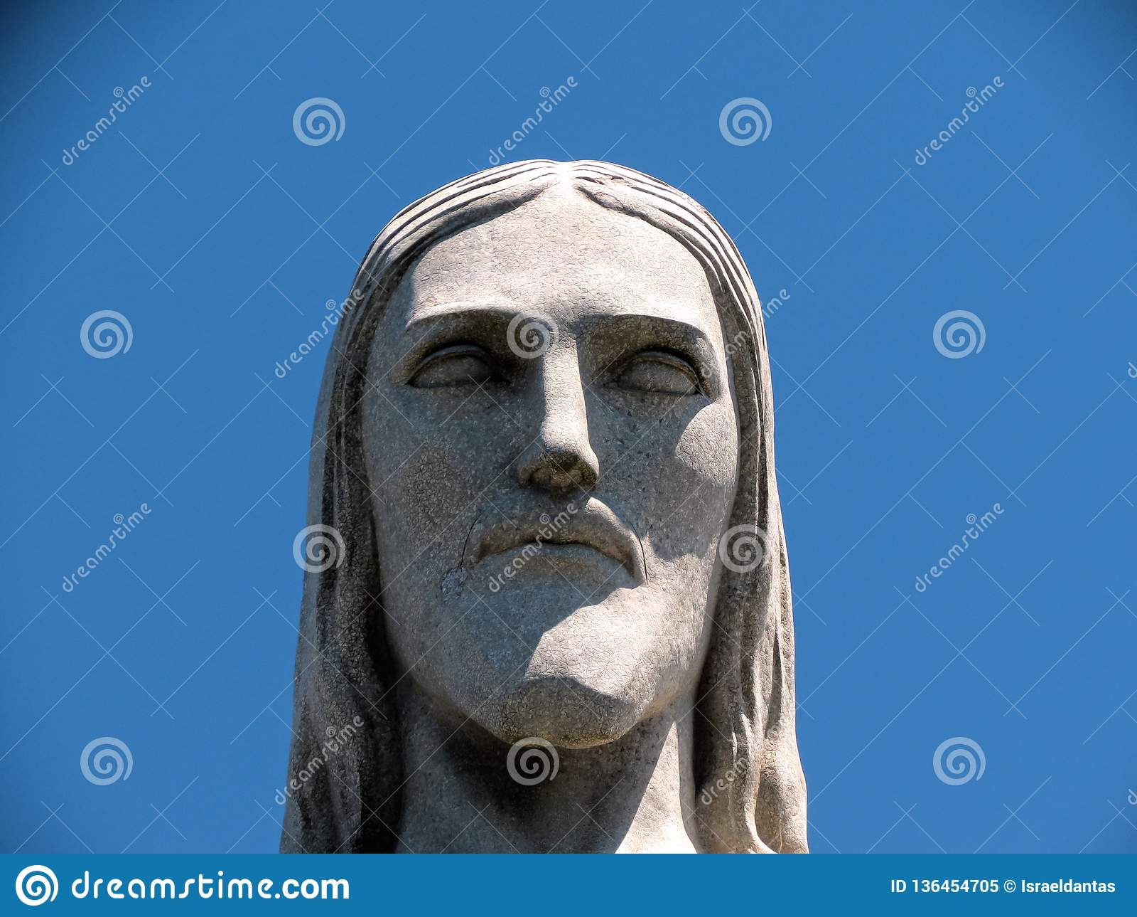 Rio de Janeiro Christ Förlossarestatyframsidan tätt