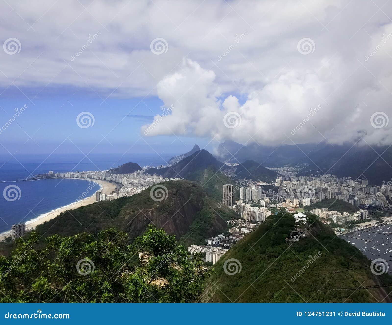 Rio de janeiro do Sugarloaf Botagofo, Copacabana, Ipanema e Guanabara