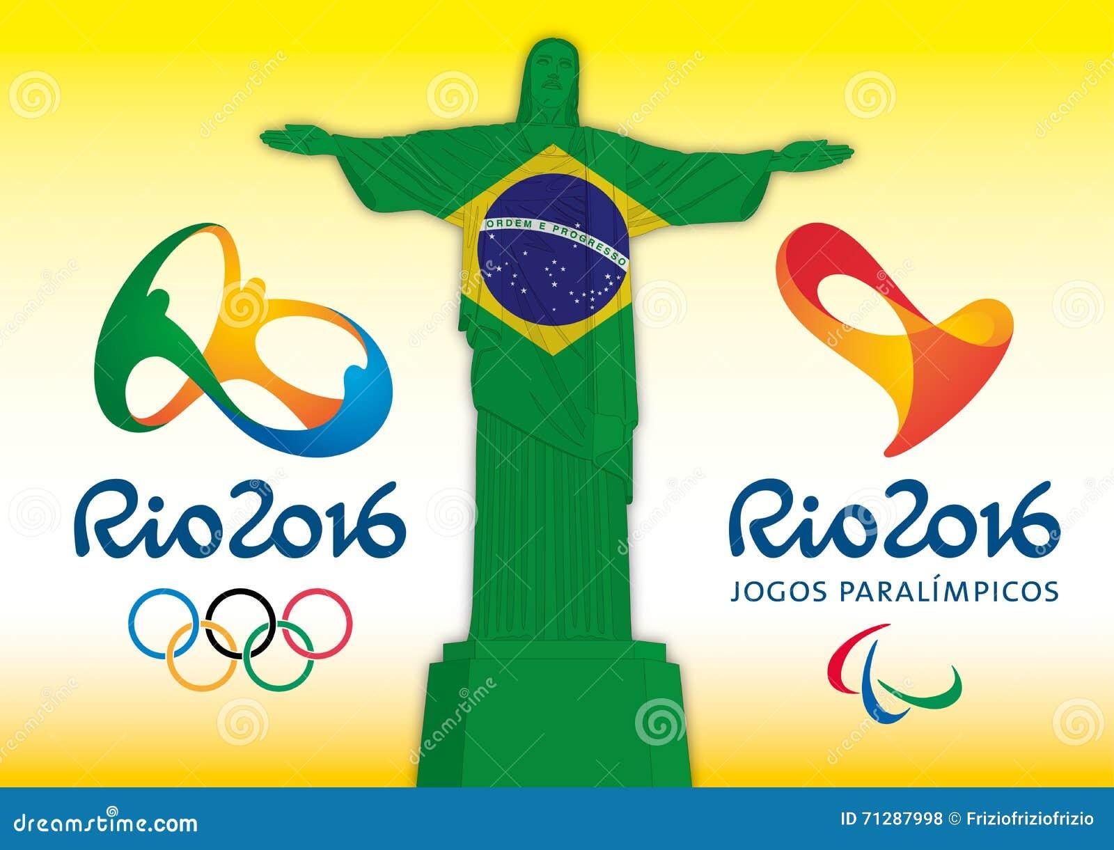 Rio De Janeiro El Brasil Ano 2016 Juegos Olimpicos Y Juegos