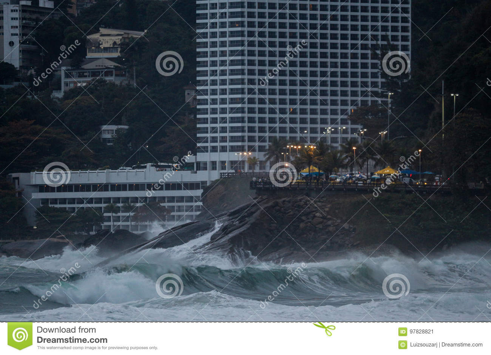 Rio de Janeiro has rough seas on a hangover day