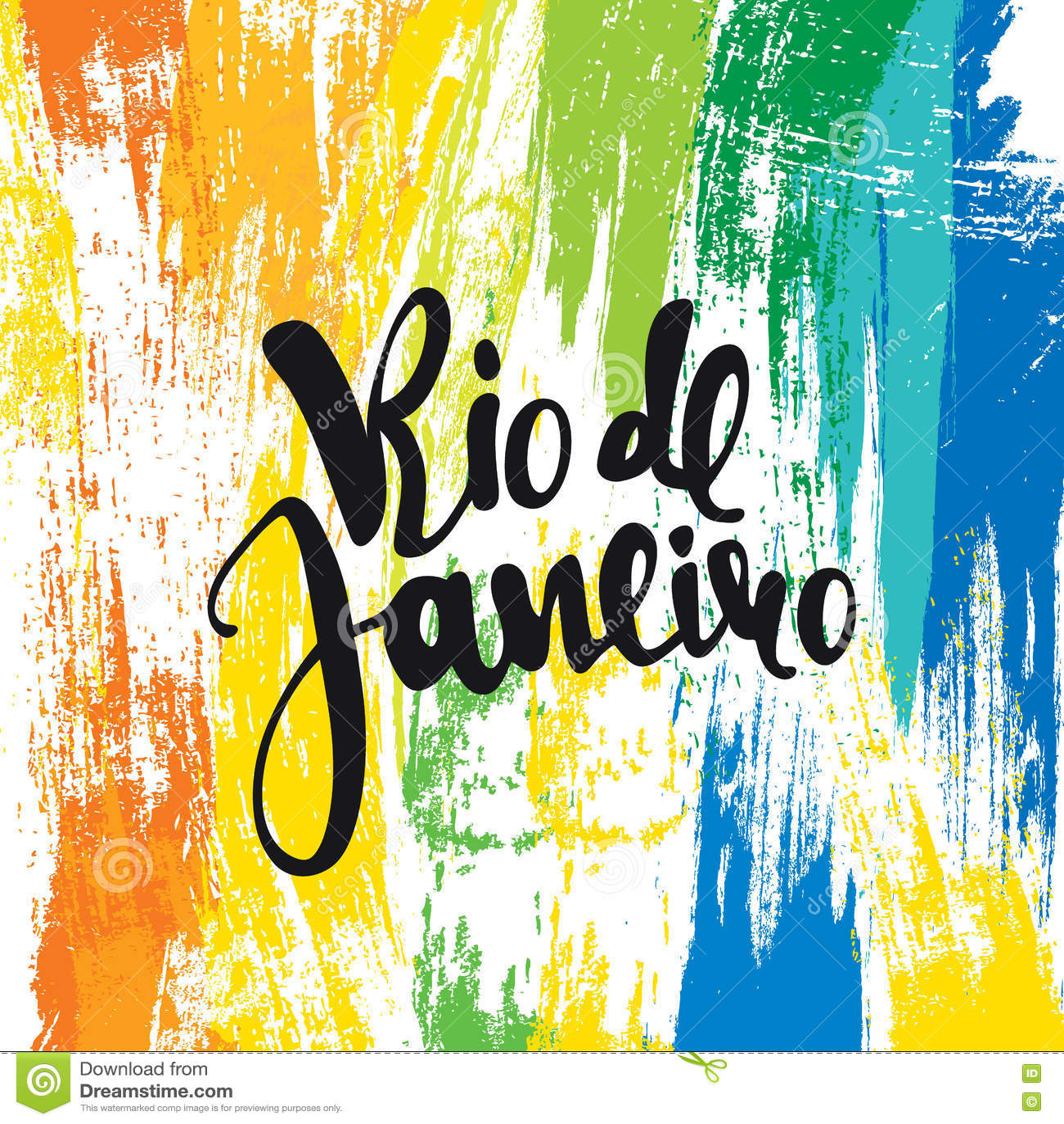 Handmade watercolor brazil flag brasil stock photos freeimages com - Rio De Janeiro Inscription Background Colors Of The Brazilian Flag Stock Photo