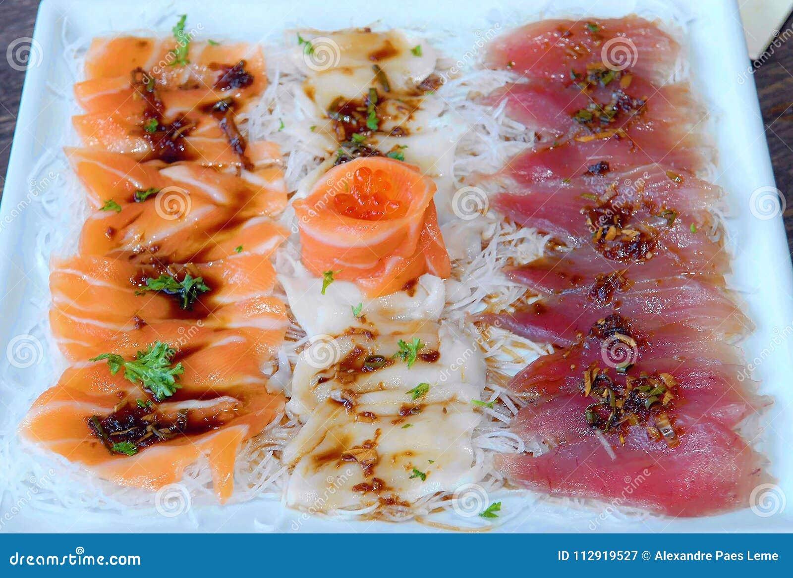 Japanese Food Sashimi Stock Image Image Of Fish