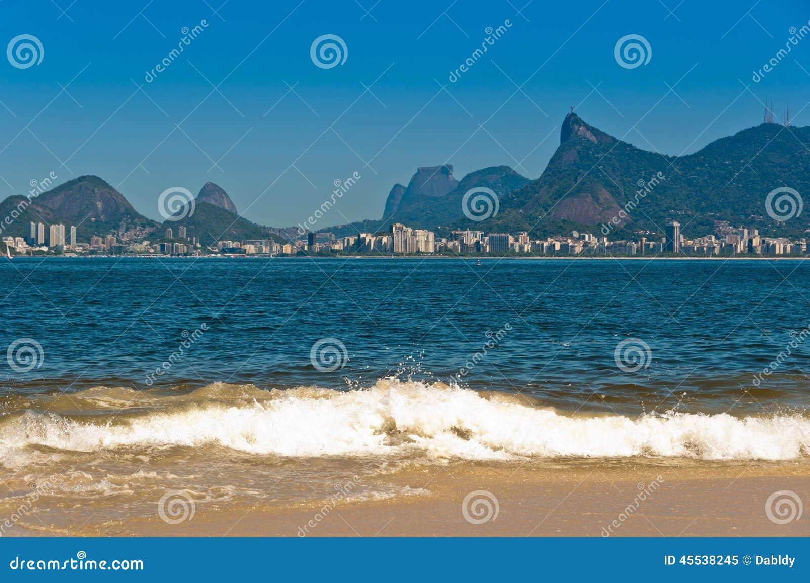 Rio De Janeiro plaża i krajobraz