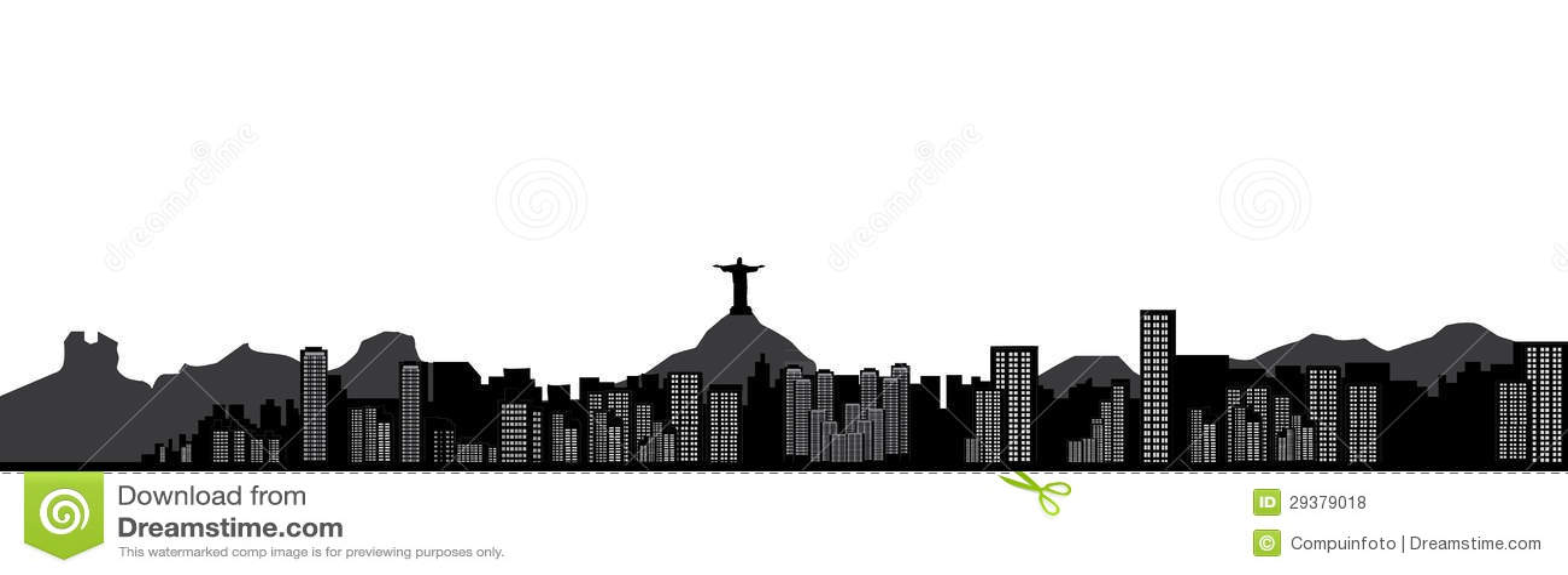 Rio De Janeiro Skyline Royalty Free Stock Photos - Image: 29379018