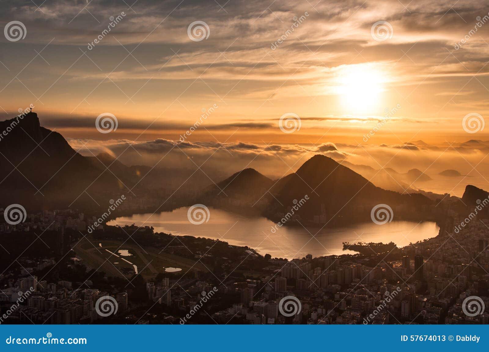 Rio De Janeiro wschód słońca