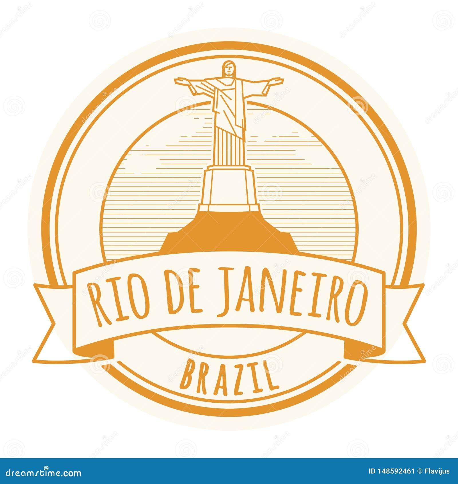 Rio de Jeneiro, Brasilien-Stempel