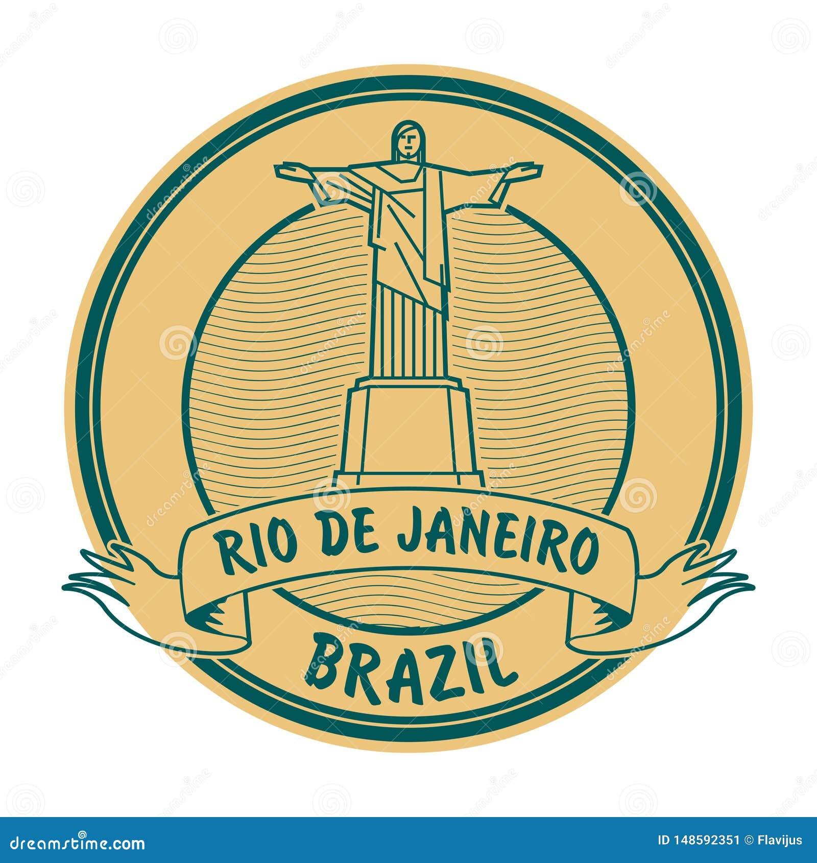 Rio de Jeneiro, de zegel van Brazilië