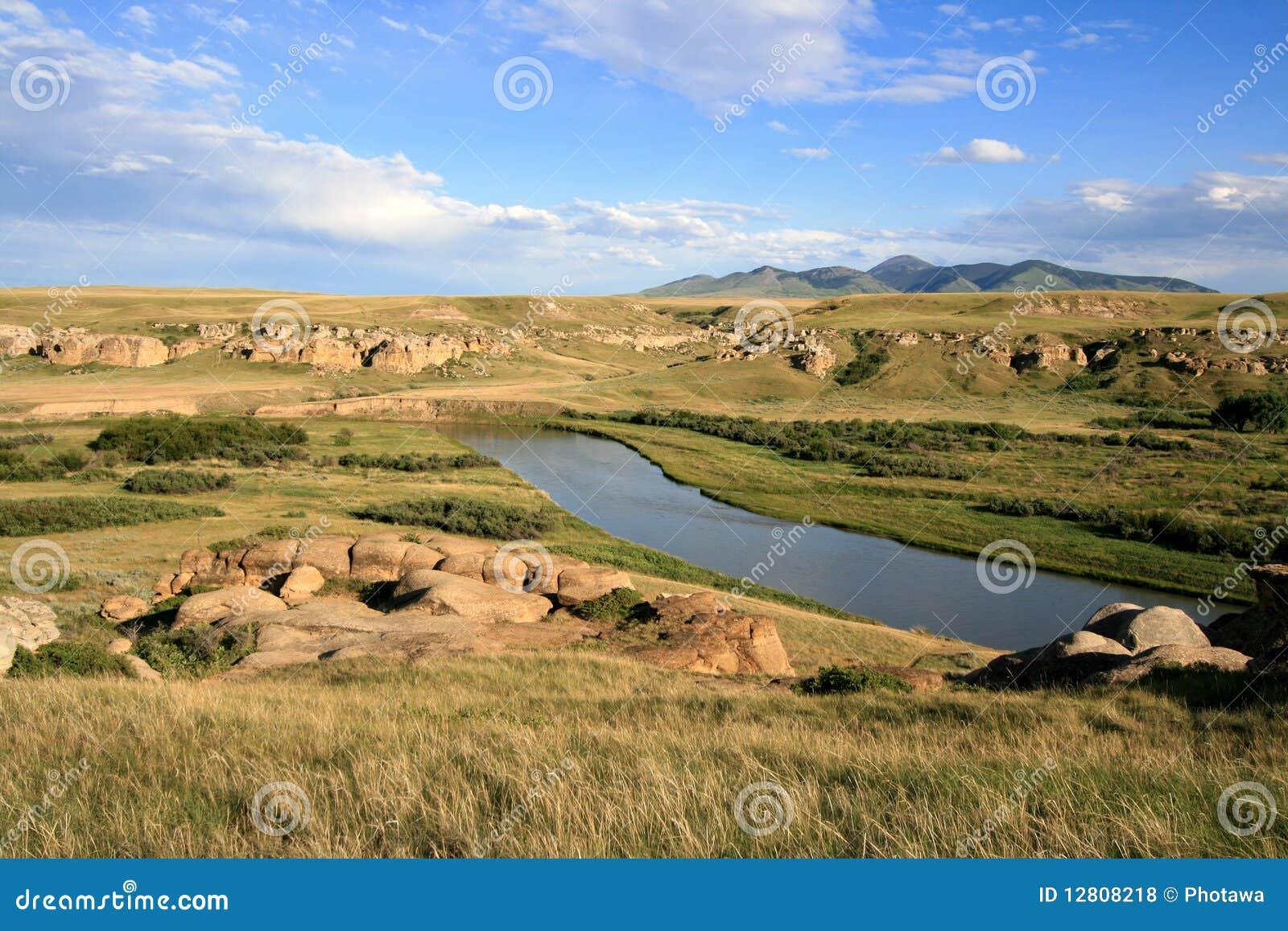 Rio de leite e montes de Sweetgrass