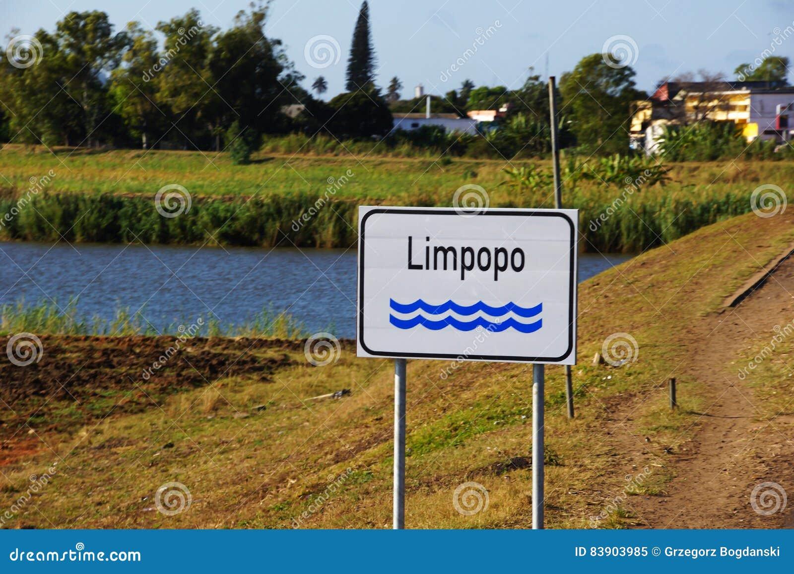 Rio de Limpopo em Moçambique