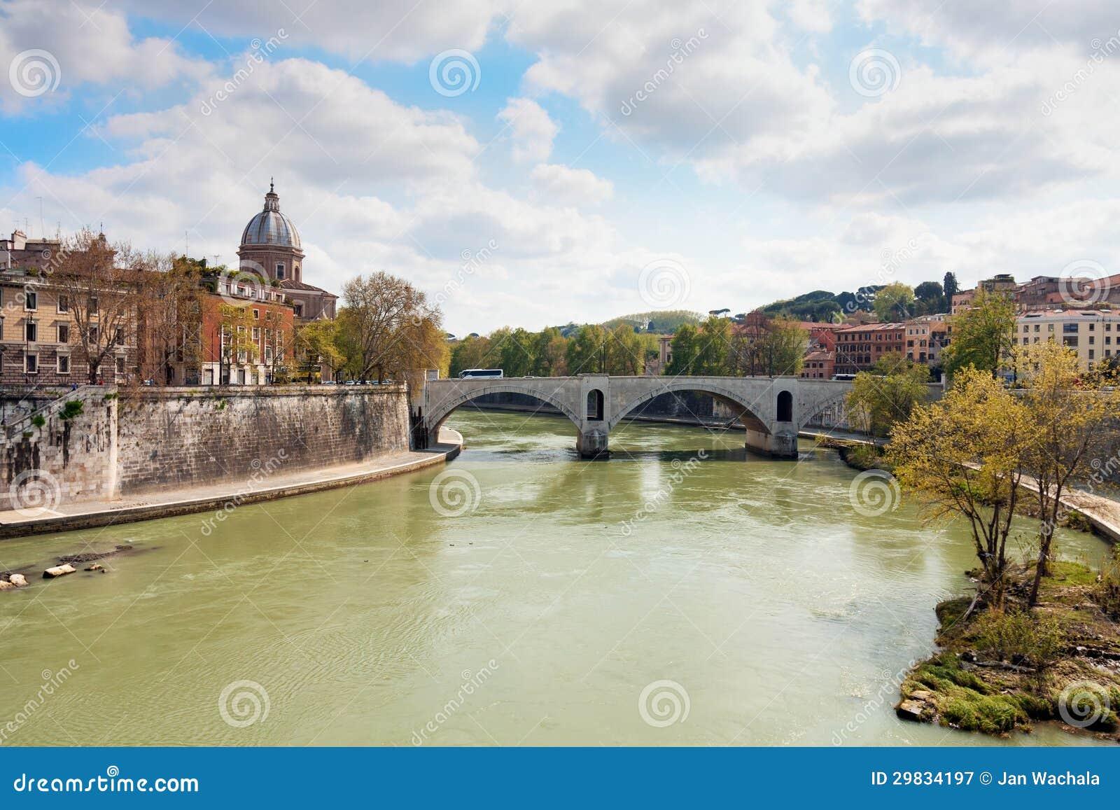 Rio de Tibre em Roma