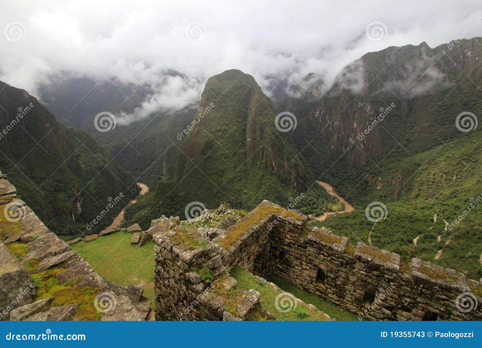 Rio de Urubamba de Machu Picchu