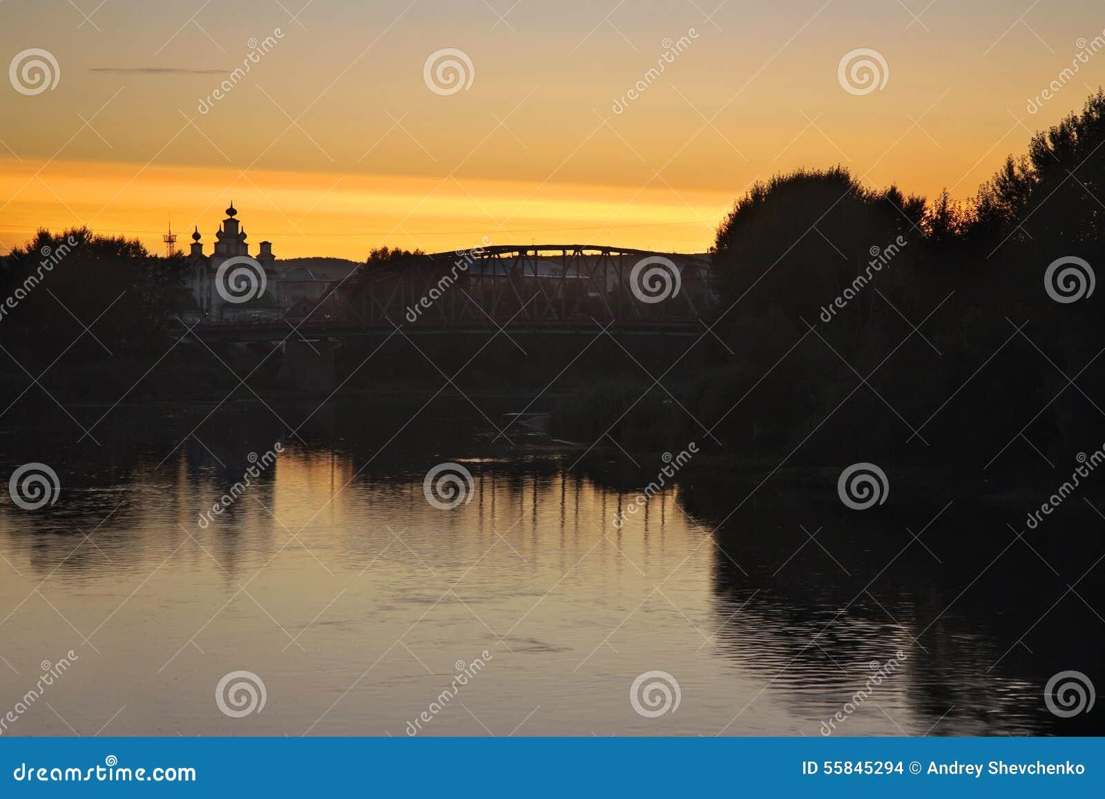 Rio do Sylva em Kungur Perm Krai Rússia