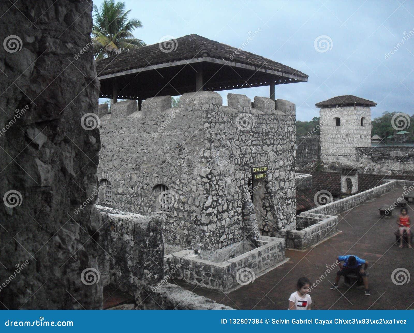 Castillo Of San Felipe De Lara Located Near The Lake Of Rio Dulce