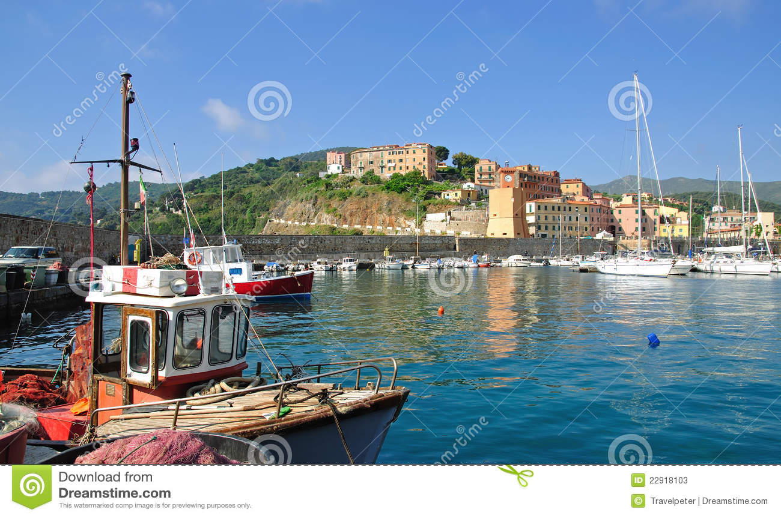 Rio-Jachthafen, Elba-Insel, Italien