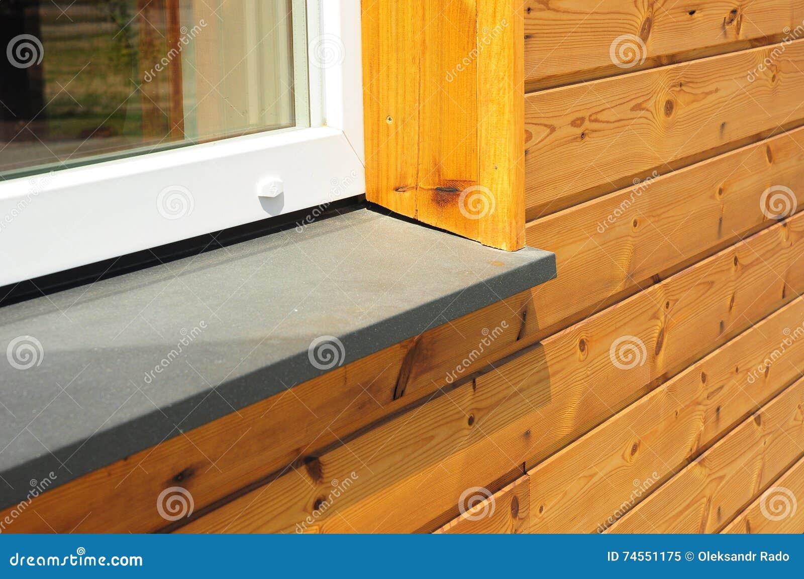 Pareti Di Legno Per Esterni : Riparazione del davanzale della nuova finestra con esterno di legno