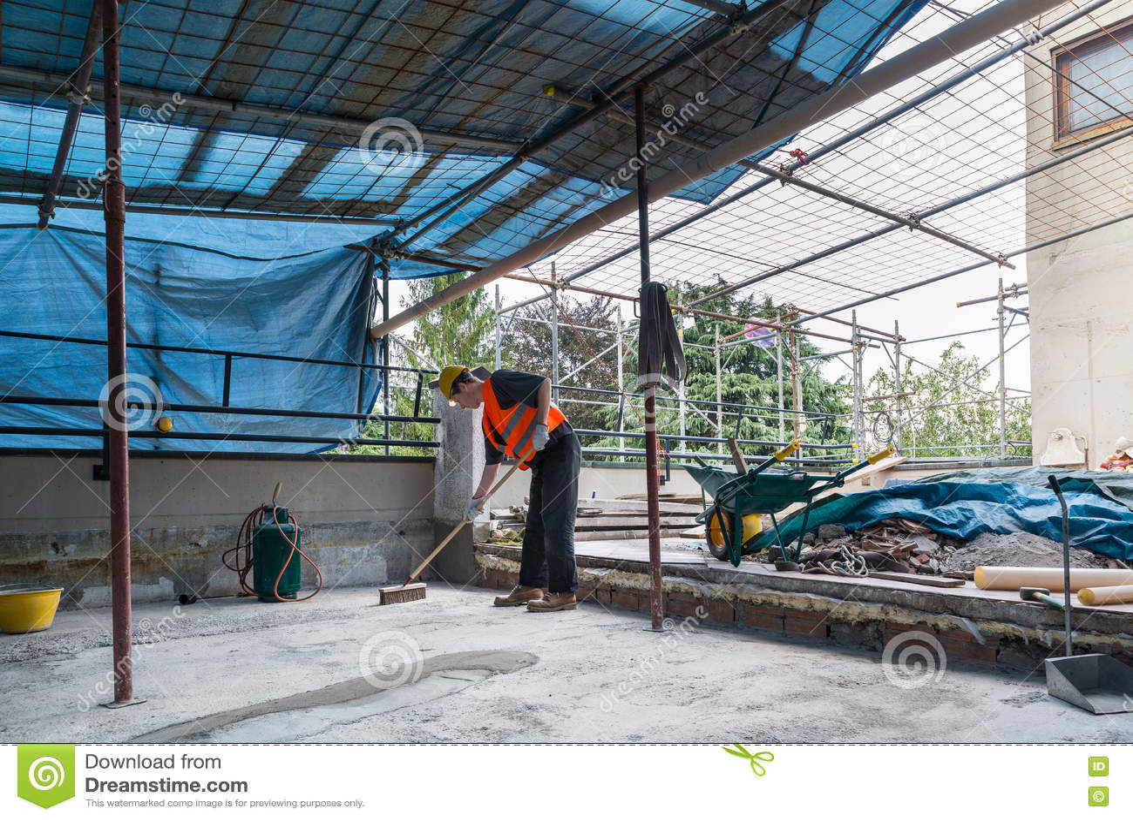 Riparazione domestica costruzione di una copertura dell 39 isolamento ed impermeabile sul terrazzo - Costruzione di una casa ...