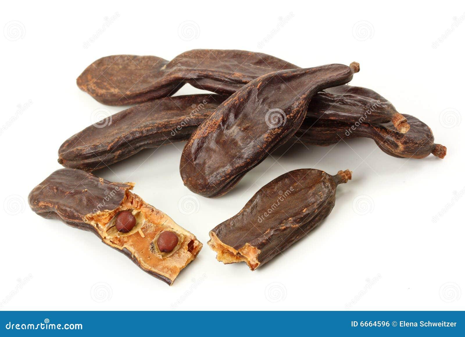 Ripe carob pods or St. John s bread