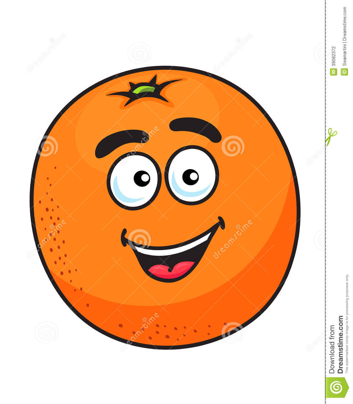 Ripe Cartoon Orange Fruit Stock Vector - Image: 39082372