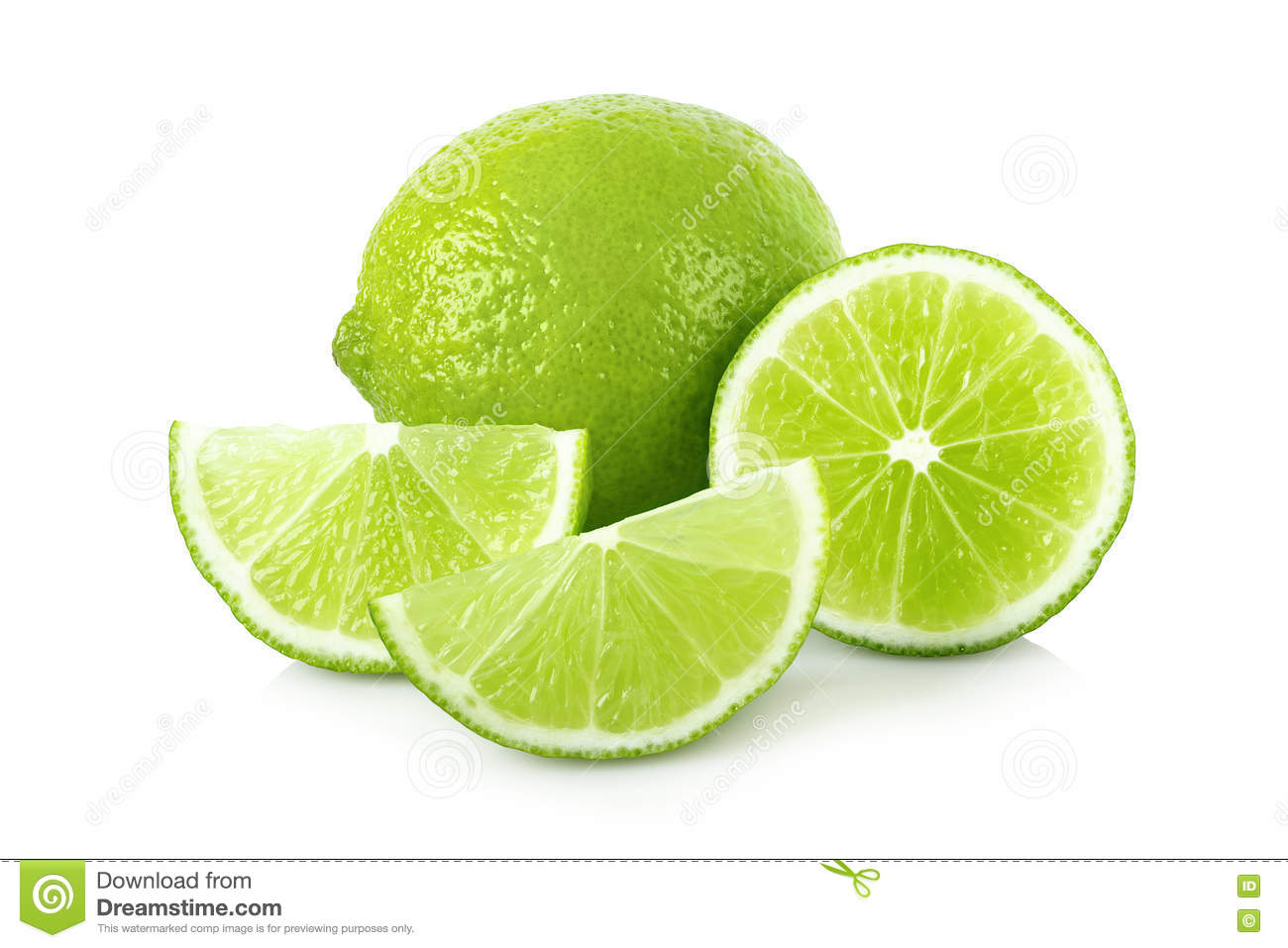 Ripe lime with slices
