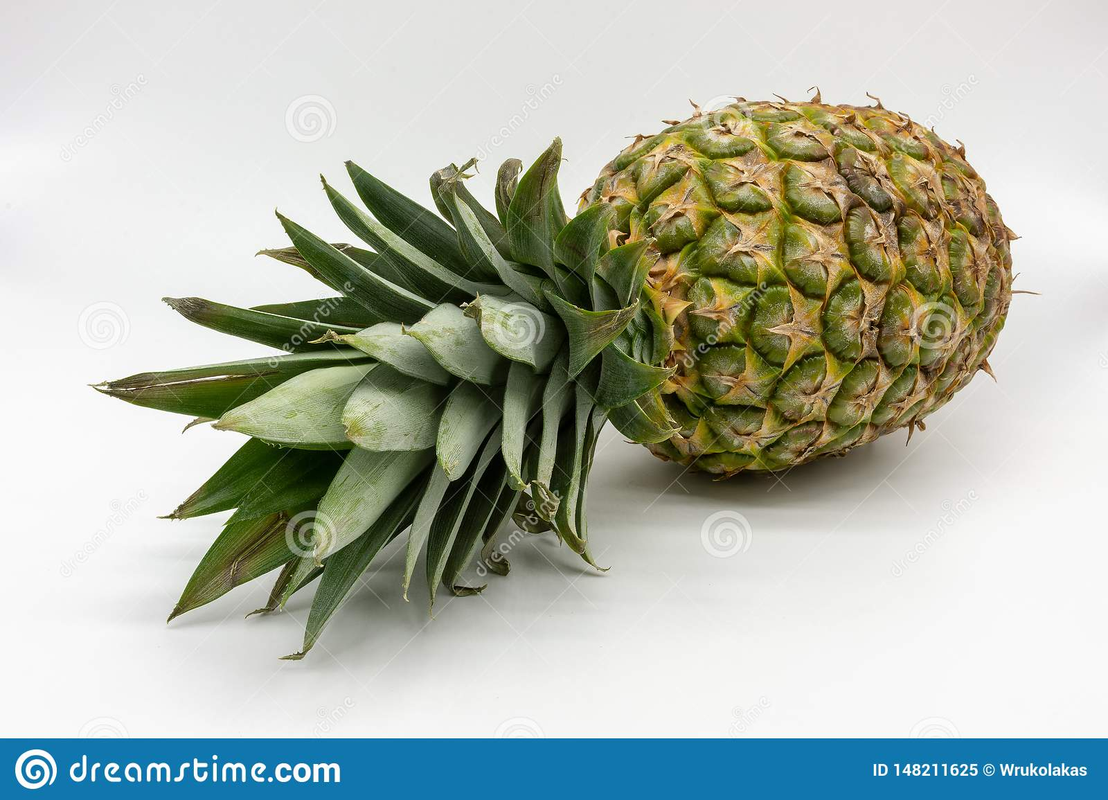 A ripe juicy and fresh pineapple
