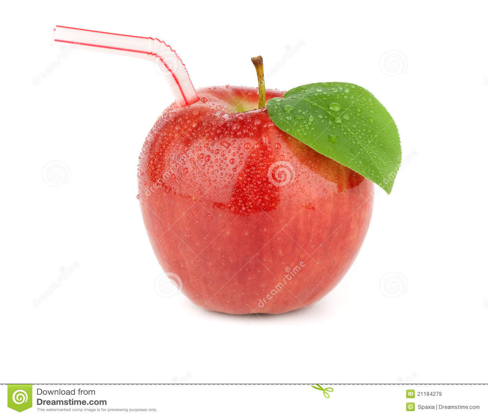 Ripe red apple juice