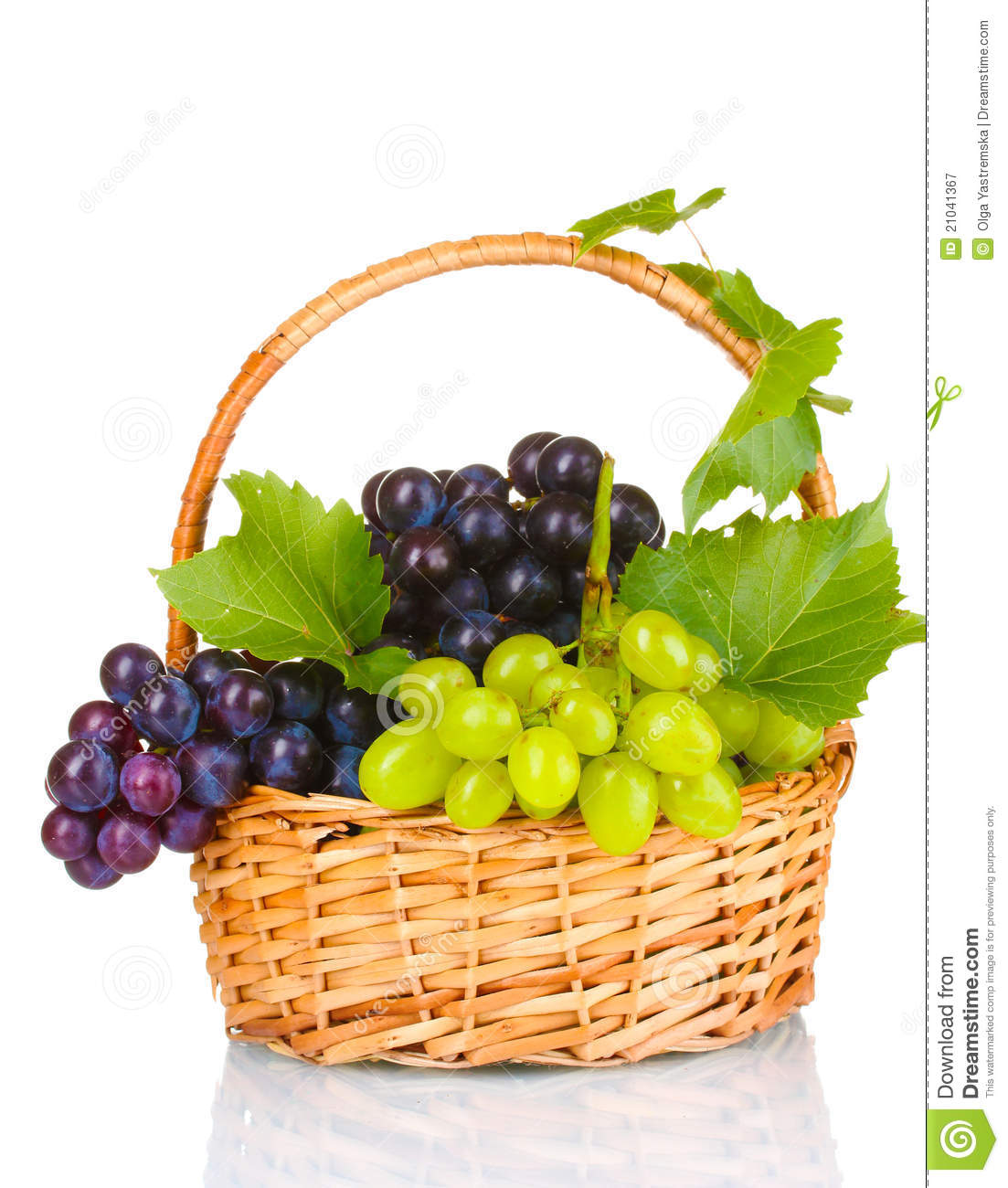Basket Weaving Grapevines : Ripe red grapes in basket stock image of grail