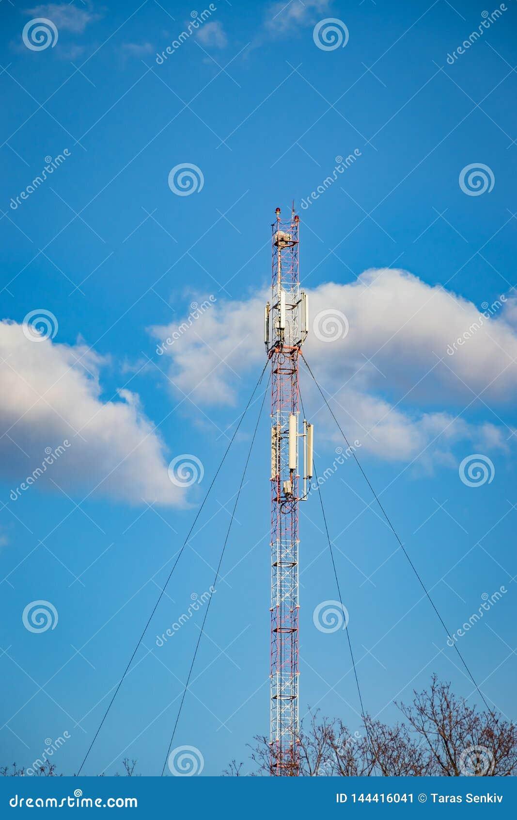 Ripetitore cellulare, albero per la radiodiffusione comunicazione senza fili e dell Internet