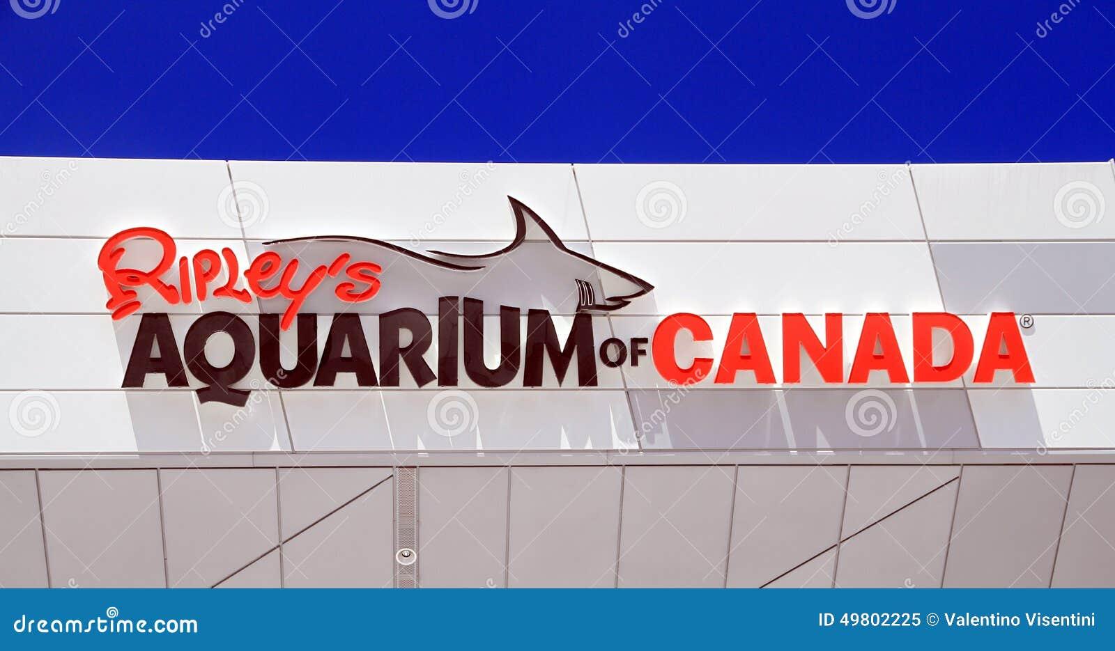Ripleys Aquarium Sign Editorial Image Image 49802225